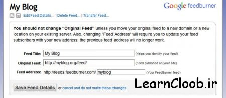 feedburner feed redirection